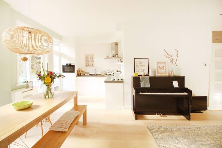 Lovely comfortable ground floor apartment + garden