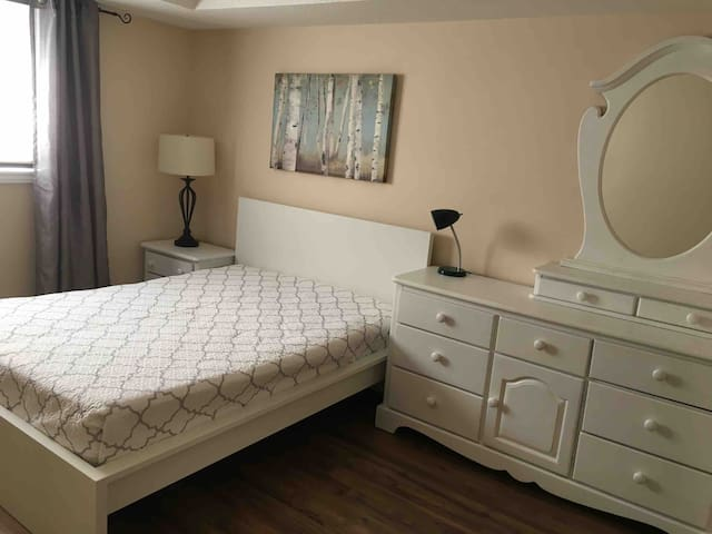 Master bedroom - with a Double bed and en-suite bathroom