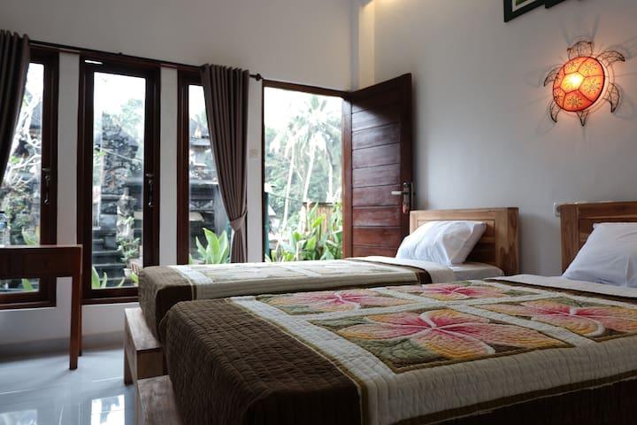 Ramaya Private Twin Room in Ubud Bali