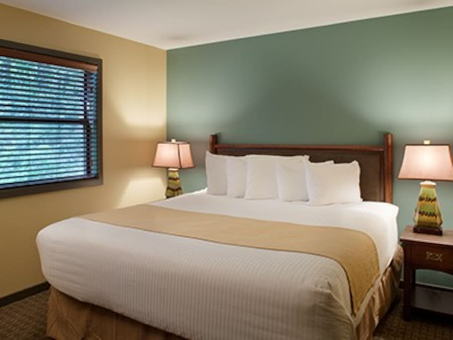 Relax in a comfortable bed after a day of fun!