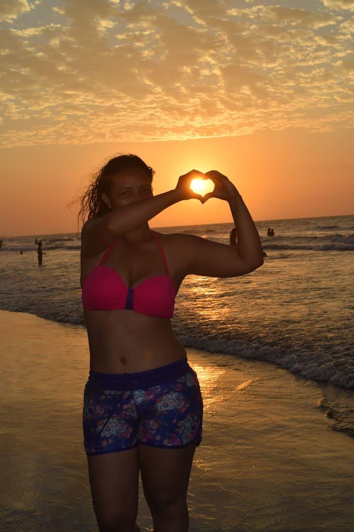 Esta soy yo Marlis, amo el mar!