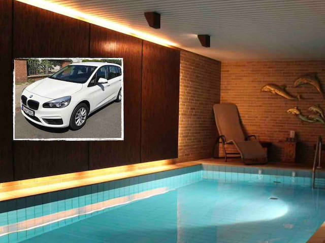 78qm FeWo + POOL & SAUNA! Optionales Auto!
