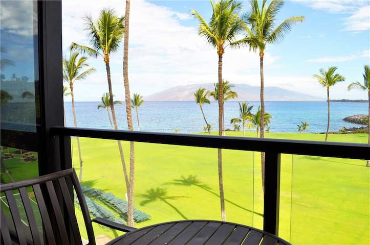 Complete Remodel!! Beautiful 1 bedroom Ocean Front Condo at Kihei Surfside #412