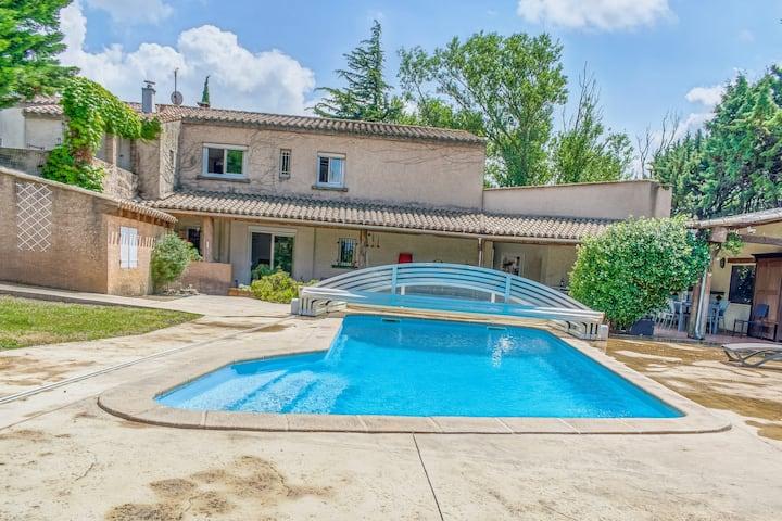 Les Vignes de Carcassonne - Garden swimming pool