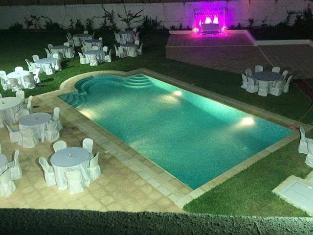 Location Villa jardin et piscine pour vacance,fete