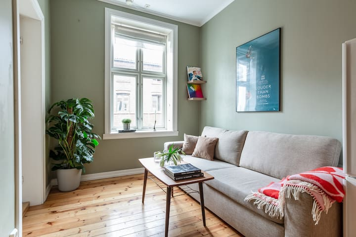 Cosy parkside apartment in Grünerløkka