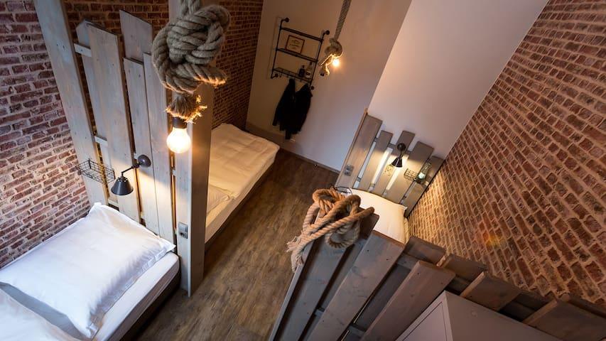 Hostel Heimathafen, (Lörrach), Bett im Hostel Dreibettzimmer