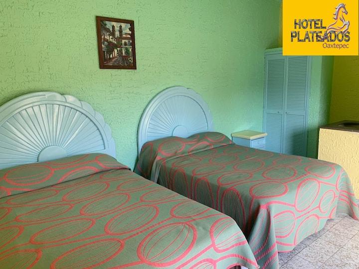 Habitación para 4 en Hotel Plateados, Oaxtepec.