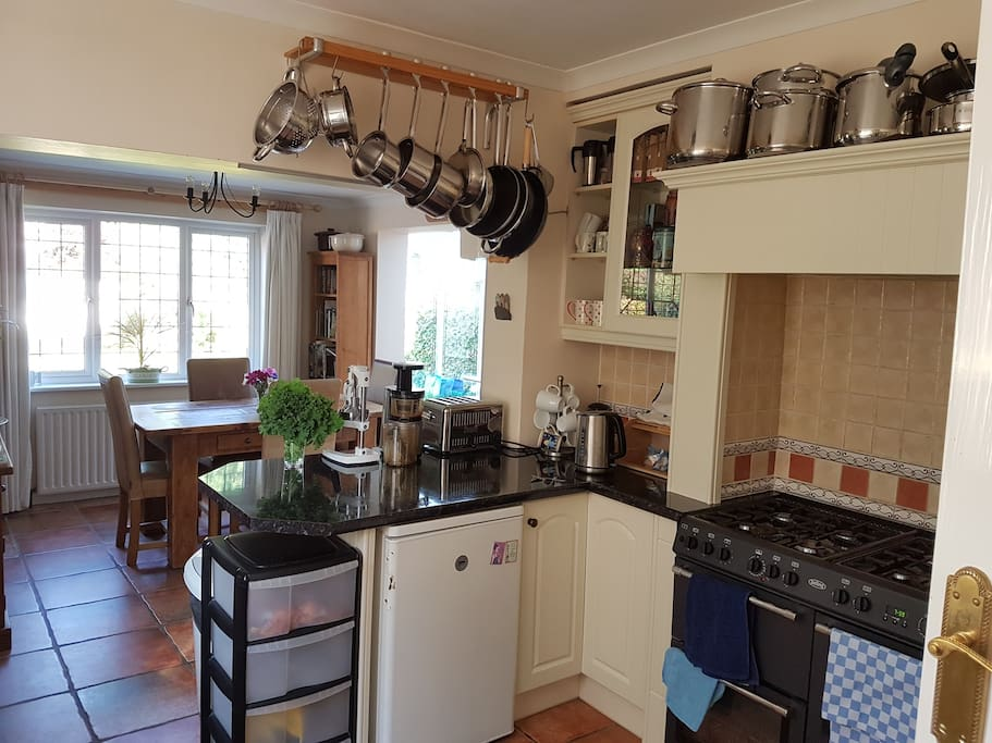 Kitchen  to kitchen dining to conservatory