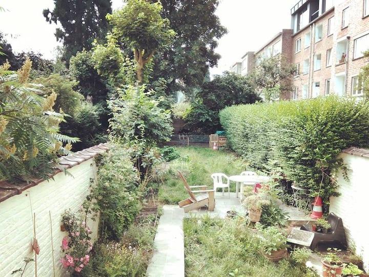 Chambre maison avec jardin