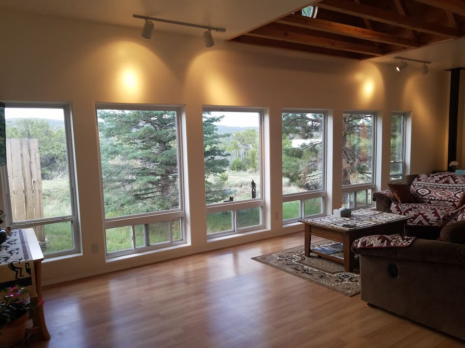 Sunroom with Large Picturesque Windows