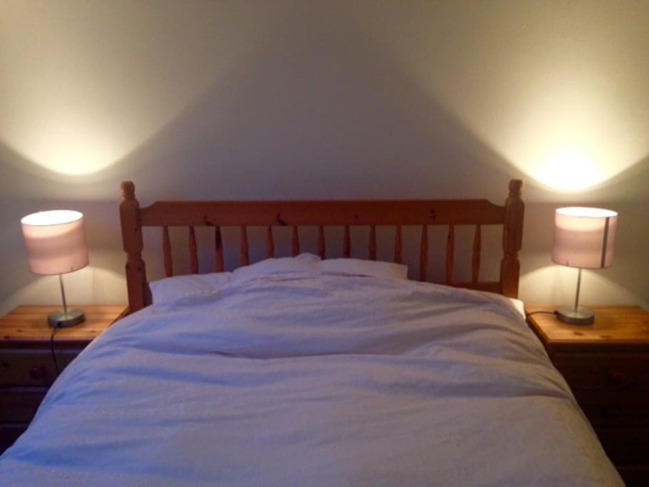 Comfy double bed sleeps two perfectly