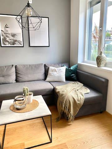 Nyere leilighet på Kaldnes brygge med balkong