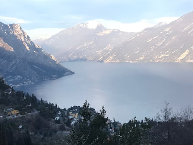 Beautiful holiday apartment Casa Panoramica with Pool, Wi-Fi, Ventilators, Terraces, Mountain & Lake View; Parking Available