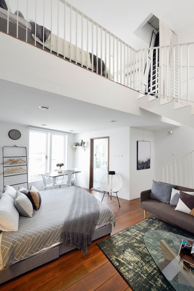 Our Helsinki Loft - a double storey Loft at the top of our heritage shophouse