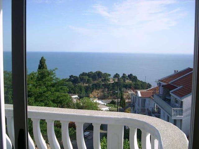 Triple sea view studio with balcony and kitchen