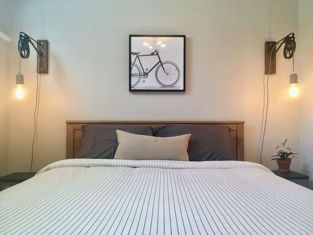 Its never too late to go back to bed. Each bedroom is set up with a queen size mattress and hypoallergenic duvet