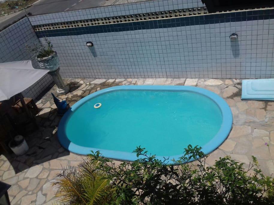 Foto panorâmica piscina