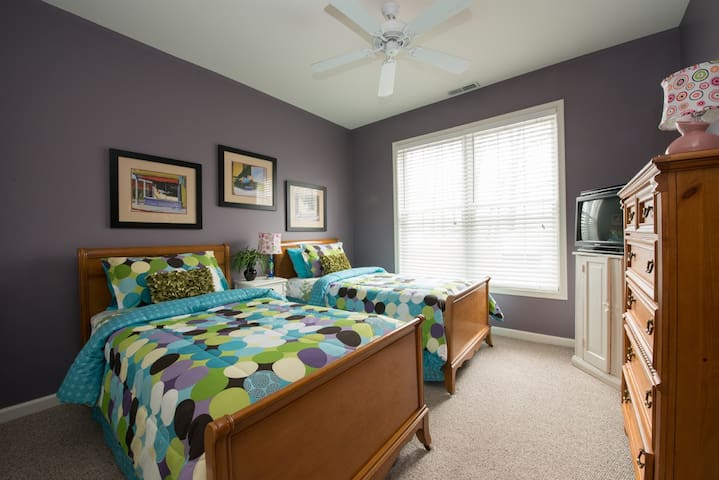 Bedroom number 3 has two brand new twin beds that are heaven to sleep in.