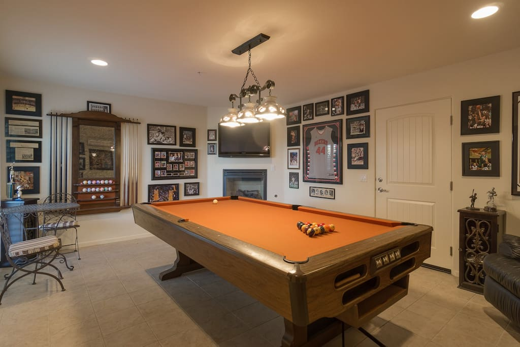 Rack them up in the ground floor games room w/ pool table.