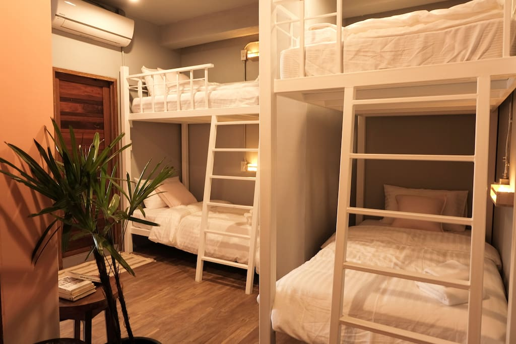 4 bunk beds in Bedroom#2 & Restroom#2