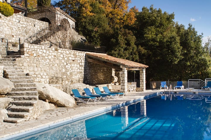 Panoramic view with pool, Tourrettes Sur-Loup