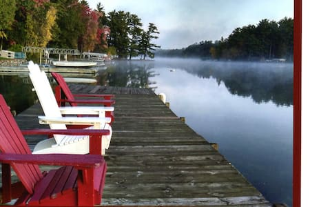 Waupaca Chain O'Lakes Cottage w/ an amazing  view