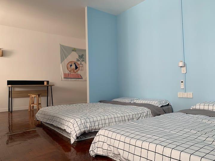 清迈古城内简约双床房 Twins double beds in old city