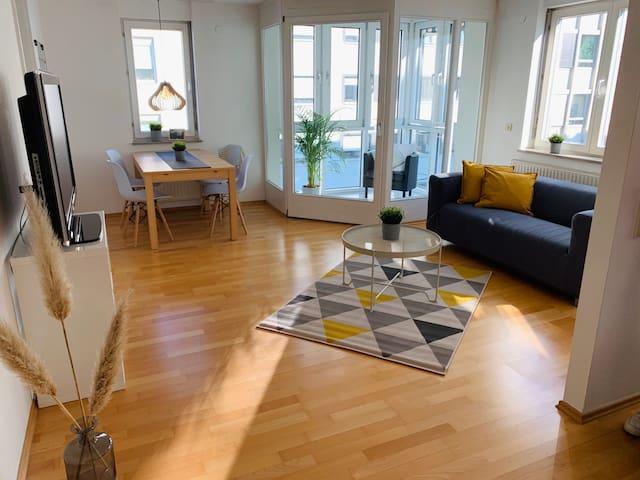 Helle und gemütliche 1-Zimmer-Wohnung mit Netflix