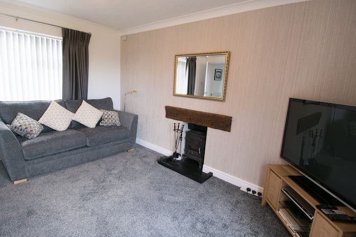 Living room (sofa which turns into a full sized double bed)