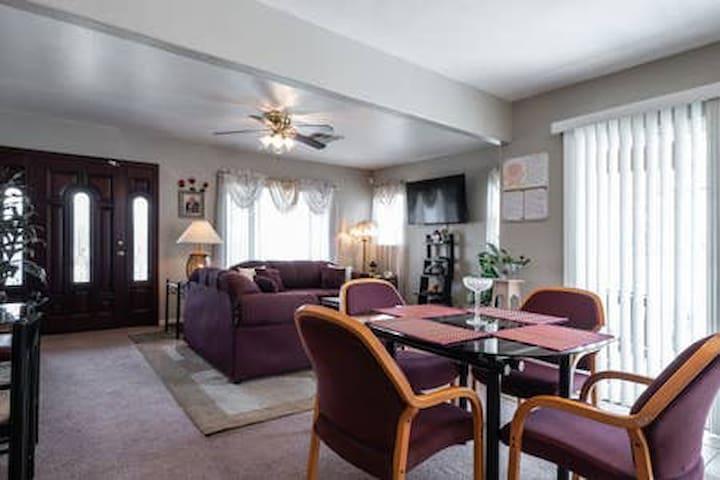 Common Area -  Living Room, Flat Screen TV, Front Door Entrance