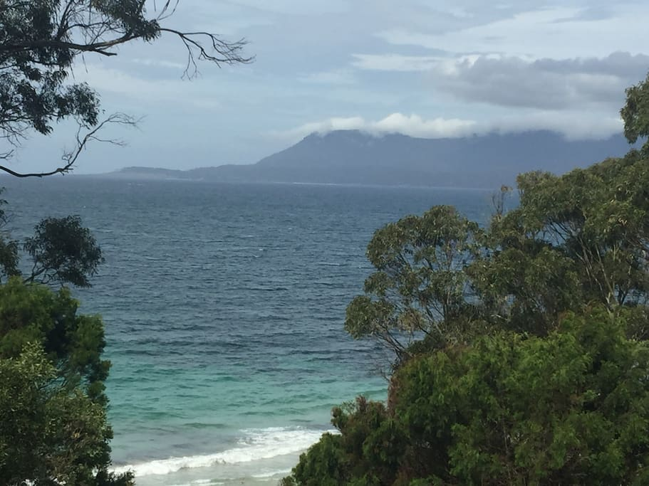 Views of Maria Island from the nearby walking track.