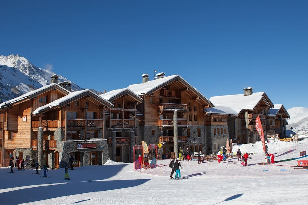 Venus is ski-in, ski-out at the foot of the  nursery slope