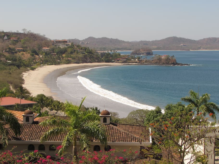 Another elevated view, looking from the other end of Playa Flamingo.