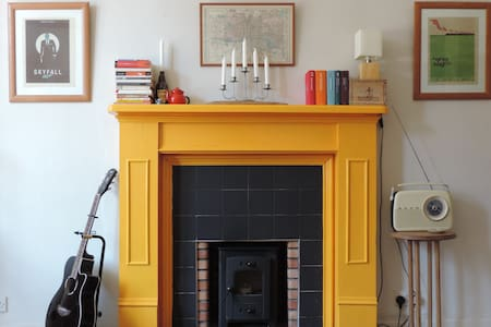 The Flat with the Yellow Fireplace - Glasgow