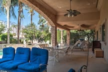 Spend your downtime lounging on this fabulous poolside patio.
