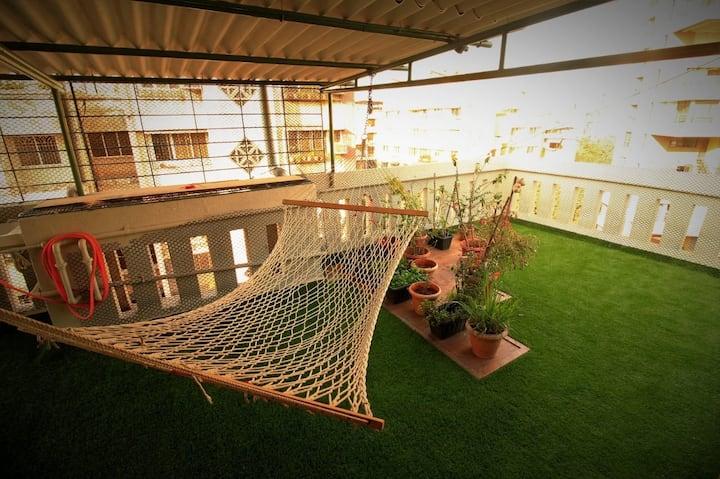 Navi Mumbai Terrace Nest - Entire 1BHK + Terrace