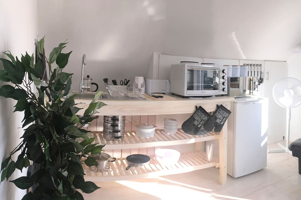 Self catering Kitchenette with everything you need to cook up a storm!