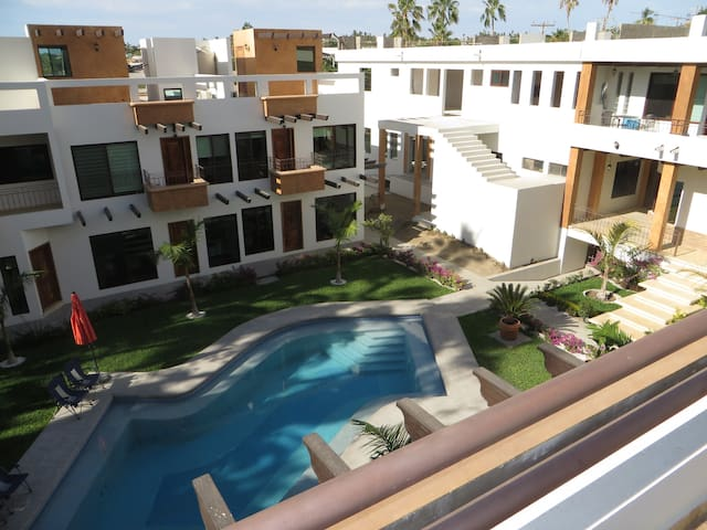 (9) Brand New, 1000 sq ft, with Pool, Courtyard - Todos Santos - Appartement