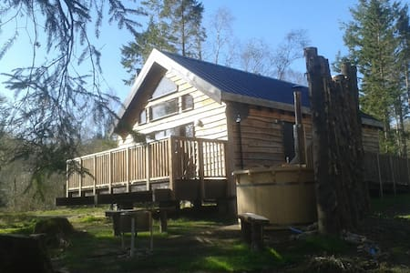 Burnside Log Cabin with hot tub - Taynuilt - Kulübe
