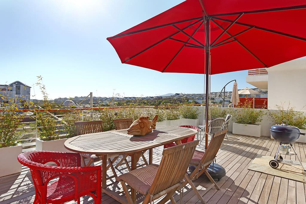 The ideal place for a summer BBQ, this patio has breathtaking views.