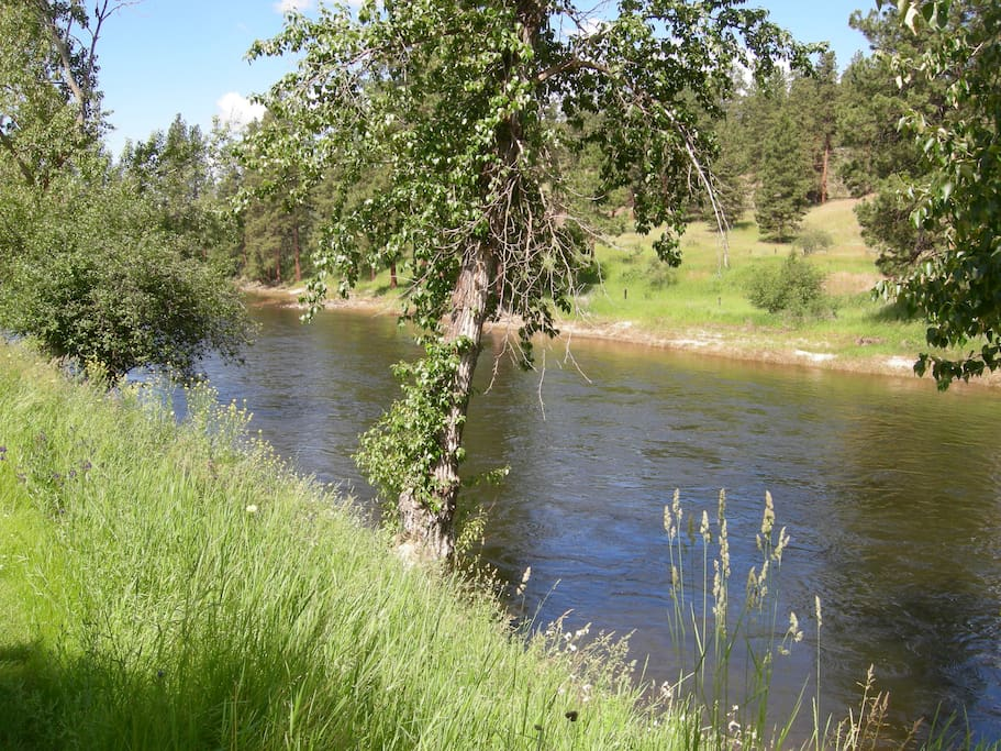 Home on the Ranch is along the Kettle River
