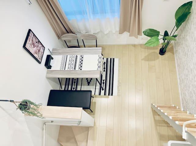 R204+3Cozy home带阁楼,羽田可直达Skystree附近独立公寓。