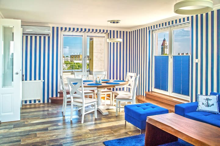 Apartament Blue Fin 78m2 (Sea View)