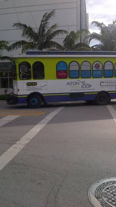 free bus to Lincoln road and Washington ave ..