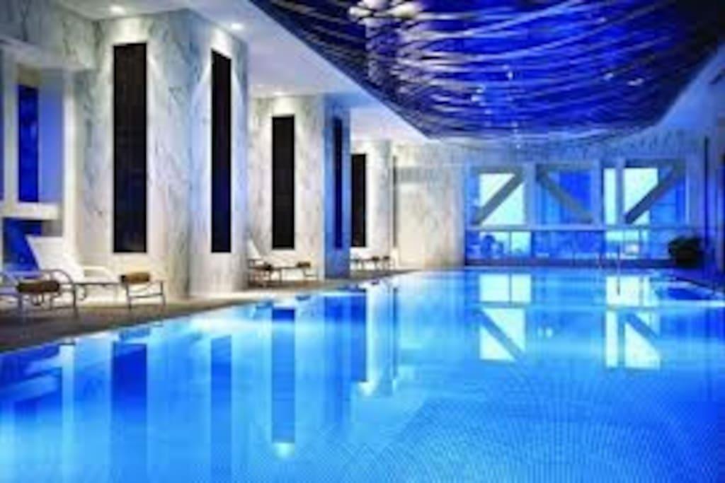 Free to use Pool, Steam room and Sauna