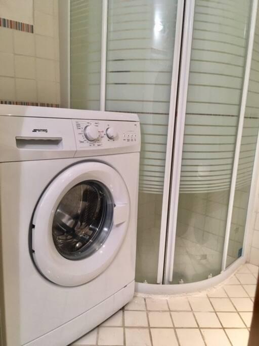 doccia e lavatrice
