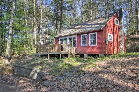 NEW! Cozy Northwood Lake Cabin on Secluded Beach!