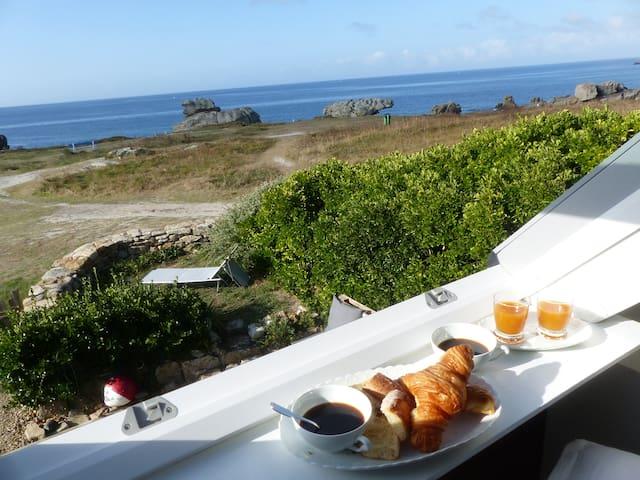 Gite du Goudoul-Lesconil.Sur la dune la mer à 180°