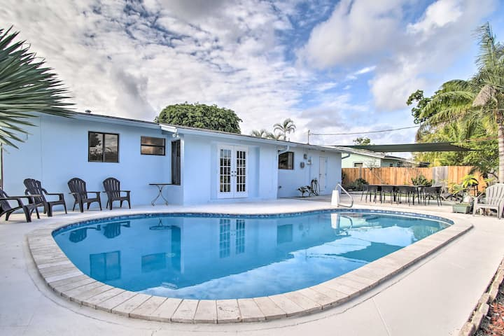 NEW! Airy Coastal Home - 3 Mi to Deerfield Beach!